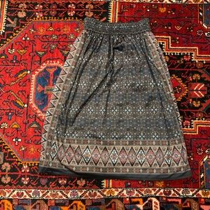 LOUIS LOUISE Patterned Pull On Skirt